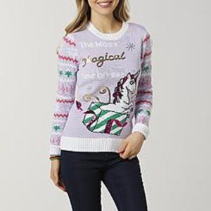 Joe Boxer Juniors' Ugly Christmas Sweater Unicorn